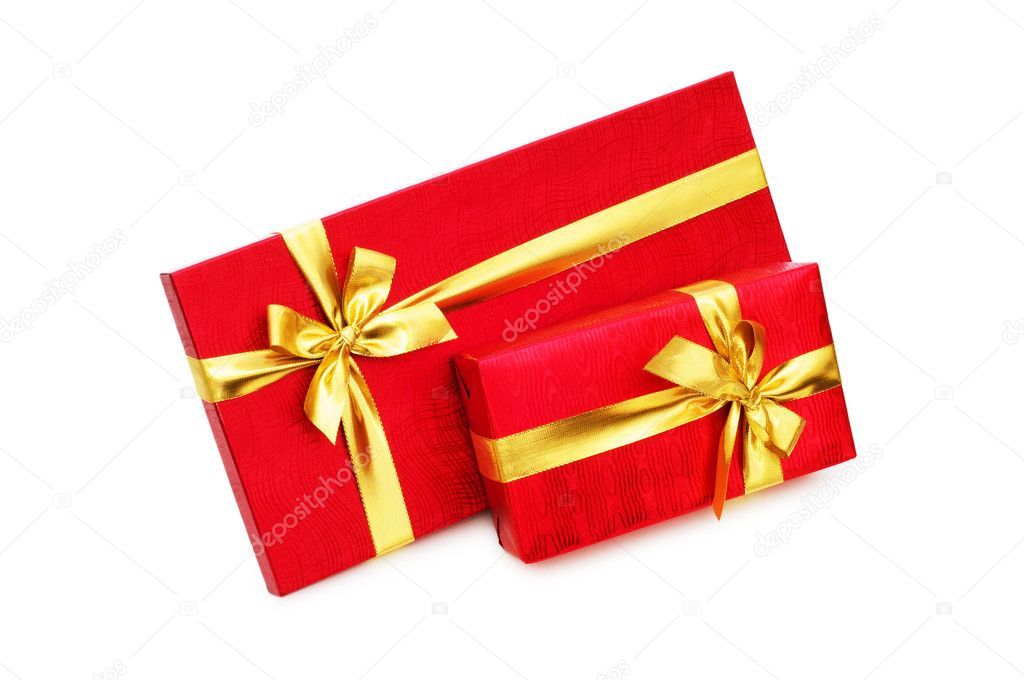 Gift boxes isolated on the white background — Stock Photo #1251523