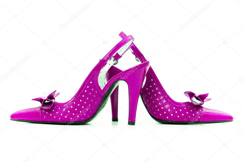 Woman shoes isolated on the white background  Stock Photo #1256204