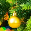 Royalty-Free Stock Photo: Christmas decoration and blurred lights