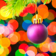 Christmas decoration and blurred lights — Stock Photo #1632455