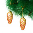 Christmas decoration on the tree - Foto Stock