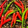 Stock Photo: Red and green peppers