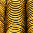 Close up of the golden coin stacks — Stock Photo #1634665