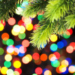 Christmas decoration and blurred lights — Stock Photo #1634846