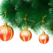 Christmas decoration on the tree - Stock Photo
