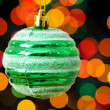 Christmas decoration and blurred lights — Stock Photo #1635514