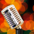 Vintage microphone isolated on the white - Stock Photo