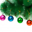 Christmas decoration on the tree - Stockfoto