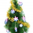 Christmas tree isolated on the white - Stockfoto