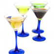 Royalty-Free Stock Photo: Various cocktails isolated on the white