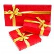 Gift boxes isolated on the white - Lizenzfreies Foto