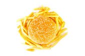 Cheeseburger isolated on the white — Stock Photo