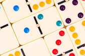Colourful dominoes — Stock Photo