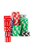Casino chips isolated on the white — Stock Photo