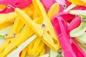 Pegs of various colors — Stock Photo