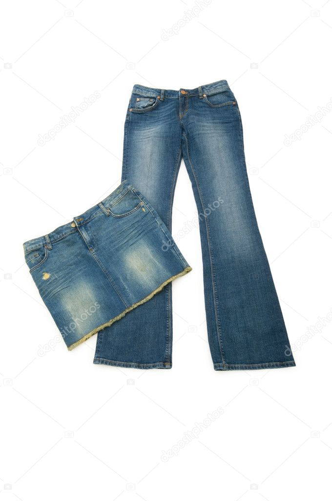 Pair of jeans isolated on the white background — Stock Photo #1633068