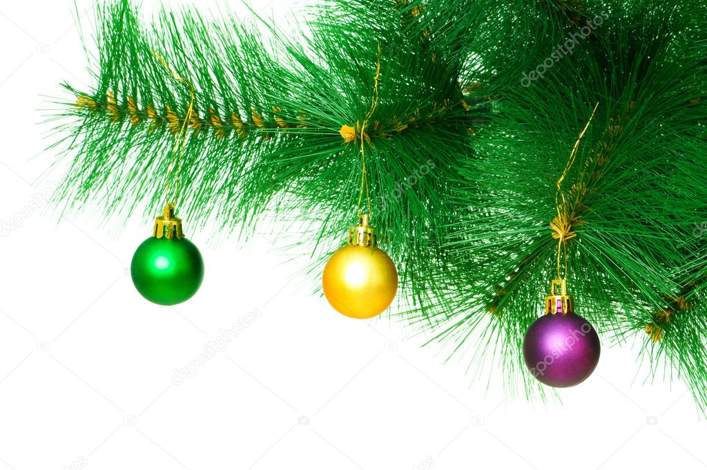 Christmas decoration on the tree — Stock Photo #1634088