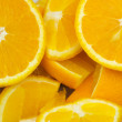 Extreme close up of half cut oranges — Stock Photo #1922438