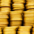 Pile of golden coins isolated — Stockfoto #1922630