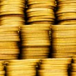 Pile of golden coins isolated — Stock Photo #1922630