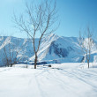 High mountains under snow in the winter — Stock Photo #1922828