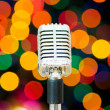 Vintage microphone isolated — Stock Photo