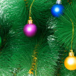 Christmas decoration on the tree — Stock fotografie