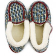 Warm slippers isolated on the white — Stok fotoğraf