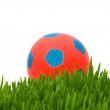 Sport concept - football on the grass - Stock Photo