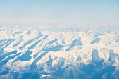 High mountains under snow — Stock Photo