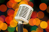 Vintage microphone isolated on the white — Stock Photo
