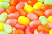 Colourful jelly beans isolated — Stock Photo