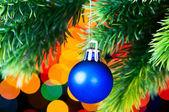 рождественские украшения и размытым свет — Стоковое фото