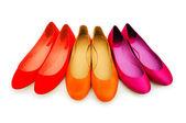 žena boty izolovaných na bílém — Stock fotografie