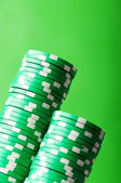 Stack of casino chips — Stock Photo