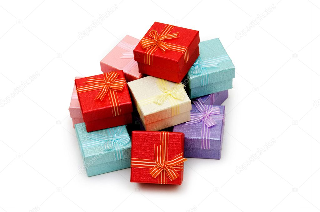 Gift boxes isolated on the white background — Stock Photo #1921278