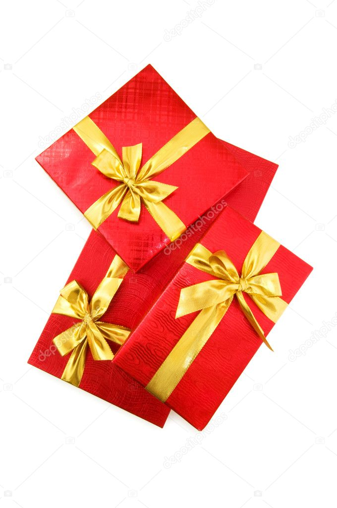Gift boxes isolated on the white background  Stock Photo #1922015