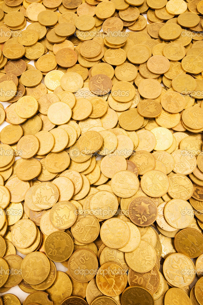 Pile of golden coins  Lizenzfreies Foto #1922647