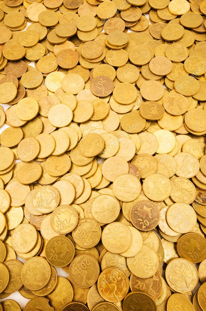 Pile of golden coins  Stockfoto #1922647