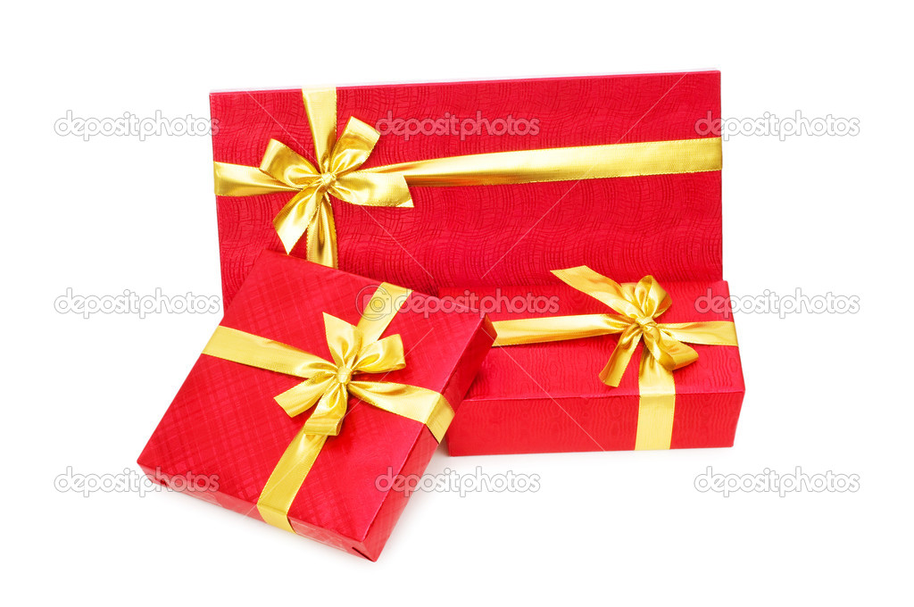 Gift boxes isolated on the white background — Stock Photo #1925831