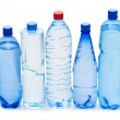 Bottles of water isolated — Stock Photo