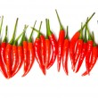 Red chili peppers isolated - Stock Photo