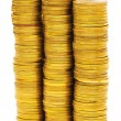Stack of coins isolated on the white — Stock Photo #1936722