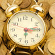 Time is money concept with clock — Stock Photo #1936726