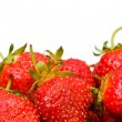 Red strawberries isolated on the white — Stock Photo