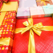 Close up of gift boxes with  ribbons — ストック写真