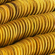 Stok fotoğraf: Pile of golden coins isolated