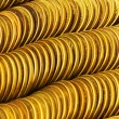 Pile of golden coins isolated — Stock Photo #1938009