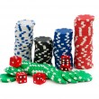 Casino chips isolated on the white — Lizenzfreies Foto