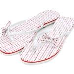 zomer schoenen geïsoleerd op de witte — Stockfoto